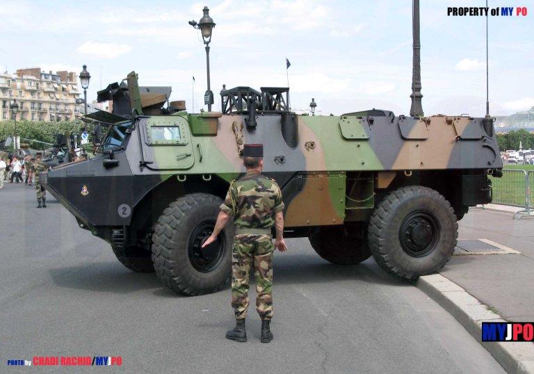 French Army VAB ATLAS CS, Paris July 14, 2007.