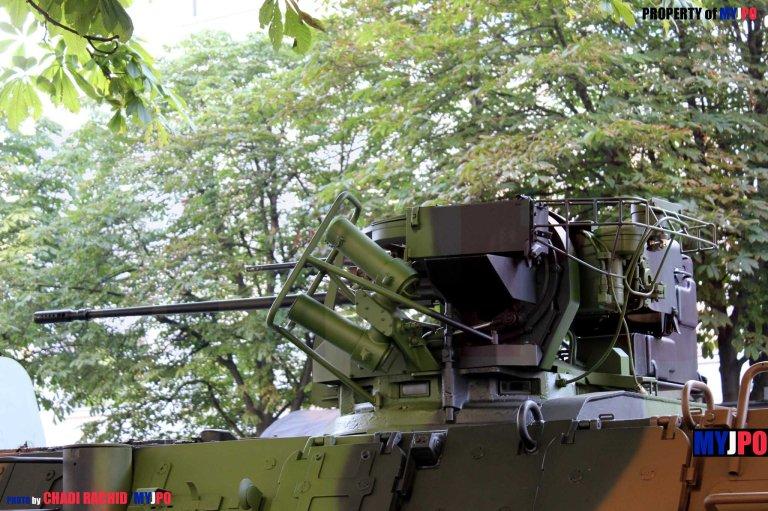 A French Army VAB T20/13 of the 9e Brigade d'Infanterie de MArine, Avenue Georges V, Paris, July 14, 2013.
