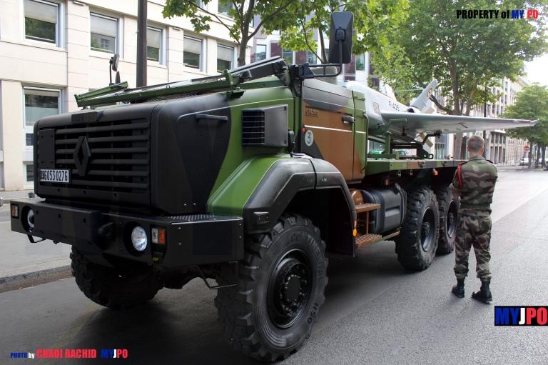 A French Army Sagem SDTI/Sprewer of the 61e Régiment d'Artillerie, Paris, July 14, 2015.